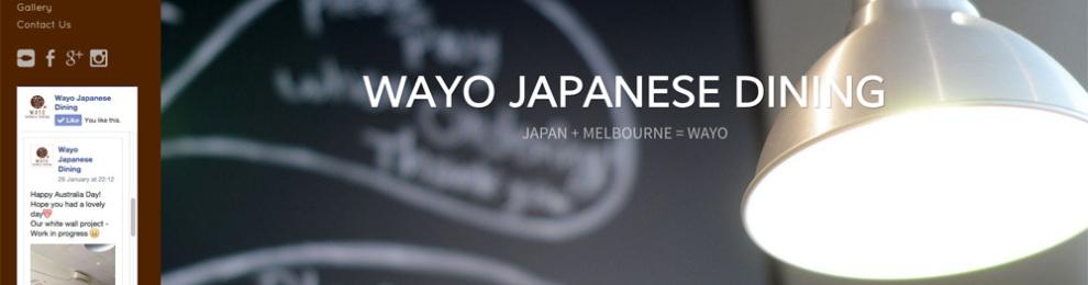 WAYO Japanese Diningのウェブできました。